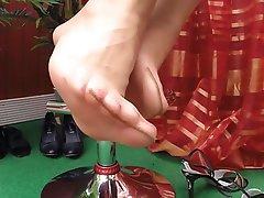 Stockings Foot Fetish Close Up Nylon Secretary
