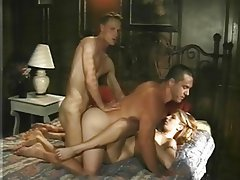 Anal Bisexual Hairy Threesome