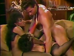 Cumshot Interracial Threesome Vintage