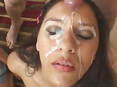 Amateur Bukkake Cumshot Facial