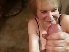Big Boobs Facial Granny Handjob