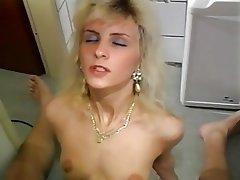 Amateur Blonde Hairy MILF Stockings
