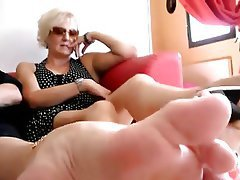 Foot Fetish MILF Mature