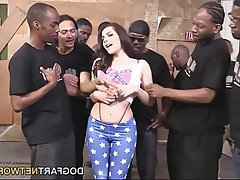 Bukkake Facial Gangbang Interracial