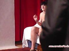 Amateur Brunette Casting Czech Teen