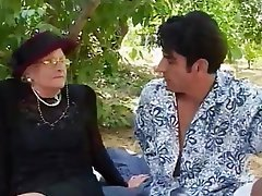 Facial Granny Old and Young Outdoor