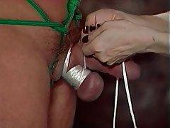 BDSM Threesome Brunette Femdom