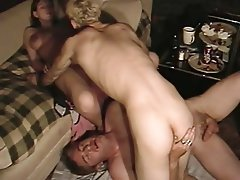 Amateur Bisexual Group Sex Threesome