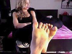 Blonde Femdom Foot Fetish Italian