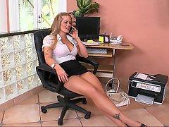 MILF Blonde Office High Heels