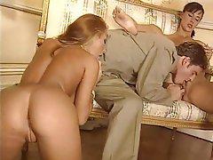 Anal Brunette Redhead Threesome