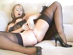 Lingerie Masturbation MILF Orgasm
