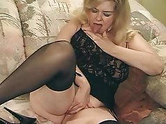 Granny Blonde Mature Big Boobs