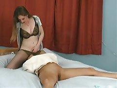 Bondage Face Sitting Femdom Lesbian Strapon