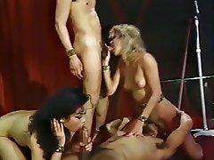 Blowjob Cumshot Group Sex Stockings