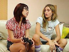 Lesbian Blonde Brunette Face Sitting