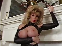 Latex Masturbation Blonde Big Boobs