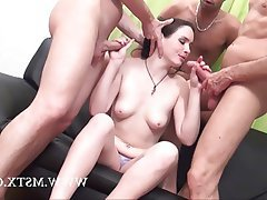 Amateur Anal Brunette French Gangbang