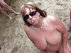 Beach Blowjob Bukkake Cumshot