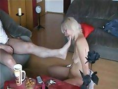 Blonde Blowjob MILF Spandex