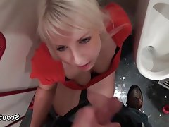 Old and Young Amateur German Outdoor POV