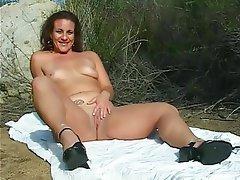 Amateur Brunette Mature Outdoor