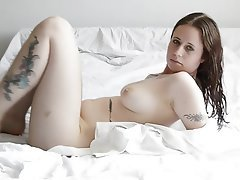 Babe Brunette Softcore Tattoo