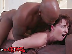 Blowjob Cumshot Interracial Lingerie