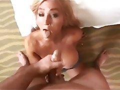 Blonde Cumshot Facial MILF POV