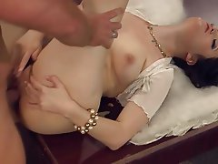 Brunette Small Tits Cunnilingus Hairy