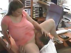 Amateur BBW Cumshot Blowjob