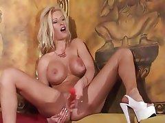 Anal Blonde MILF Masturbation