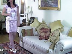 British Brunette Masturbation Nylon