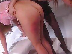 BDSM Lesbian Blonde Redhead Nylon