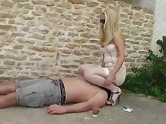 Blonde Face Sitting Foot Fetish Outdoor