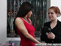 Hairy Lesbian Massage Redhead