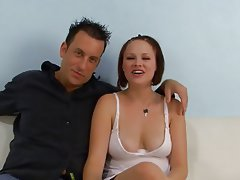 Blowjob Interracial Redhead Nylon