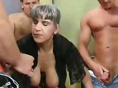 Old and Young German Big Boobs Group Sex