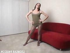Amateur Babe Lingerie Masturbation Stockings
