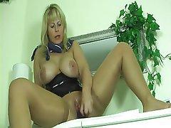 Big Boobs Blonde Masturbation MILF Nylon