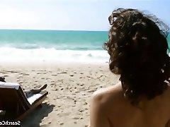 Beach Brunette Celebrity Outdoor
