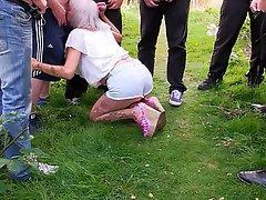 Amateur Blowjob Bukkake Granny