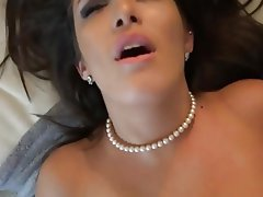 Blowjob Brunette MILF Stockings