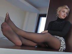 Foot Fetish MILF Nylon