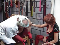 BDSM Blonde Nylon Threesome