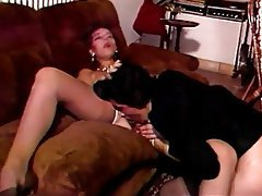 Double Penetration Group Sex Hairy Stockings